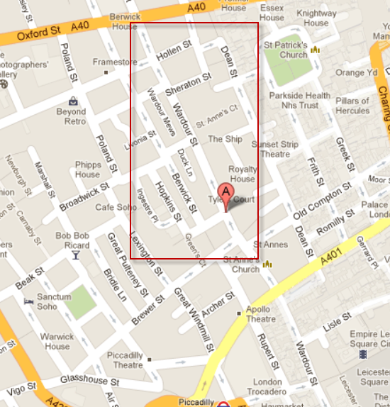 map wardour street