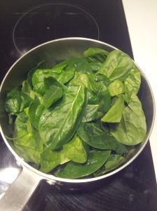 put spinach in pot