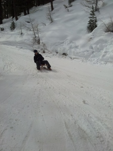 Sledging like a real pro