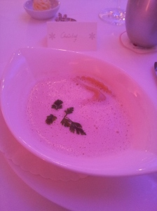 Truffle cream soup