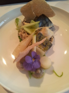 VLV 5 Escabeche of mackerel_ green celery_olive crackers_crumble and olive green star