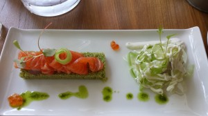 Baldaszti  salmon fennel salad