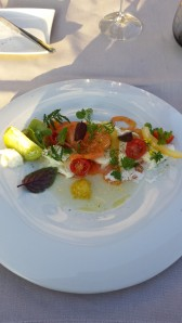 Buffalo mozzarella with tomato varieties