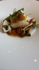 Turbot with porcini