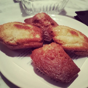 Home made madelines with honey