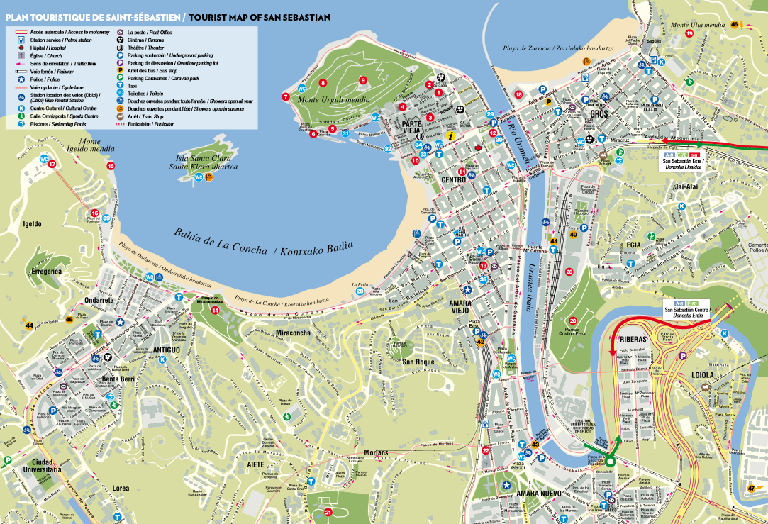 SAN SEBASTIAN SPAIN MAP Imsa Kolese – Tourist Map Of Cordoba Spain