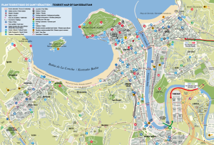 Tourist map san sebastian by San Sebastian tourism