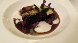 Beef cheeks cooked in a red wine sauce during 7 hours