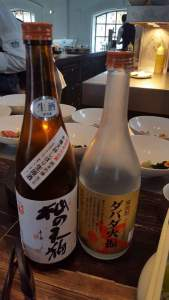 Saké for with porkbelly and sashimi
