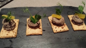 Crostini with chickenlivers